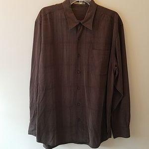 Tommy Bahama long sleeve silk shirt